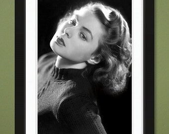 Ingrid Bergman Portrait (12x18 Heavyweight Gloss Print)