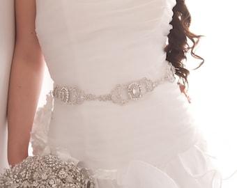 Bridal Sash - Swarovski Belt - Crystal Sash - Rhinestone Sash - Bridal Belt - Crystal Belt - Rhinestone Belt - Wedding Sash - AUDREY