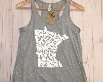 Minnesota Dog Rescue Tank Top: Proceeds Benefit Ruff Start Rescue