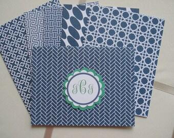 Geometric Prints Set of Twelve Two Each