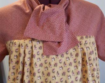 1960s style top/ vintage style blouse/ cotton blouse/ maternity top/ size M/L