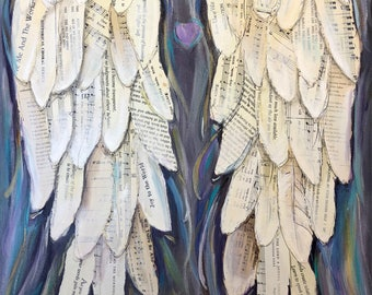 Angel Wings Painting Mixed Media Angelwings art