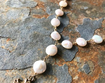 Petals of Paperwhite Necklace