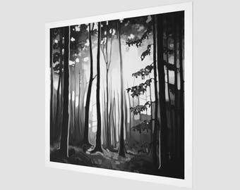 B&W FOREST / paper print