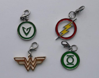 Justice League Hero Enamel Bracelet Charm