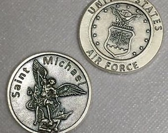 Air Force Large Pocket Token with St. Michael on the Back