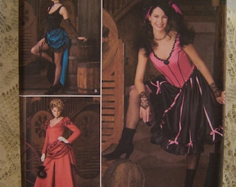 Steampunk, Barmaid, Victorian dresses...sizes 14, 16, 18, 20...uncut...Simplicity 2851...dated 2008