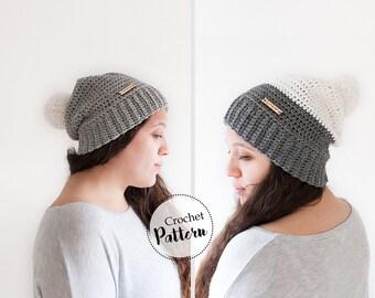 Due schemi cappello invernale ad uncinetto per adulti e ragazzi  || berretto uncinetto || schema uncinetto berretto || cappello pom pom