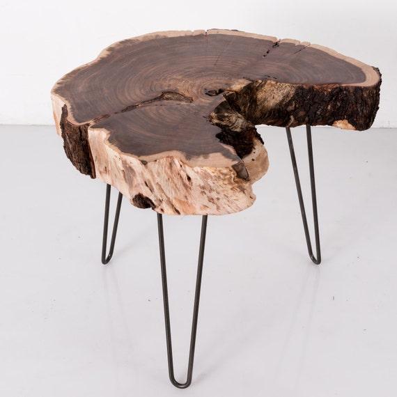 Wood Slice Accent Table: Wood Slice Table Live Edge Side Table Tree Slice Minimalist