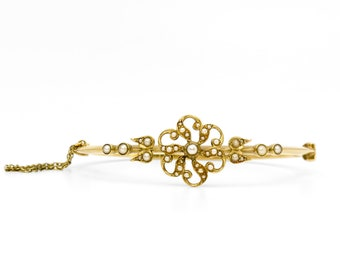 VICTORIAN SEED PEARL Bracelet | 14 Karat Yellow Gold
