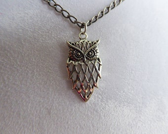 Sterling Silver Owl Necklace