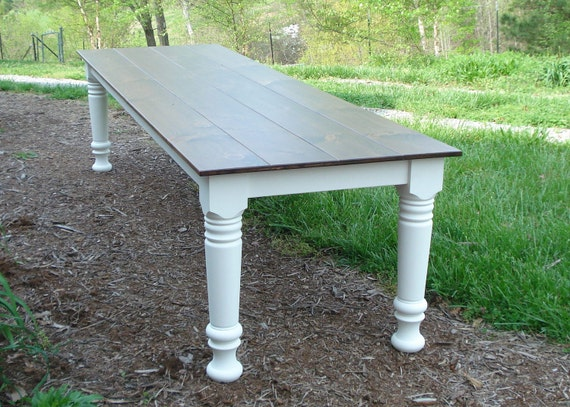 Merveilleux 10 Foot Farm Table Wood Dining Table Farmhouse Table Rustic