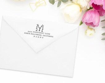 Return Address Stamp, Address Stamp, Custom Address Stamp, Wedding Return Address Stamp, Personalized Return Address Stamp, Rubber Stamp, #4