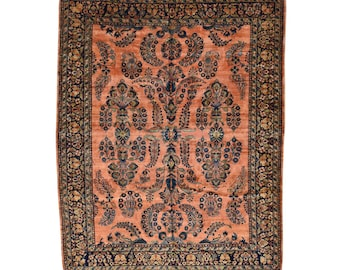 """9'5""""x12' Antique Persian Maharajan Sarouk Mint Cond Hand-Knotted Rug"""