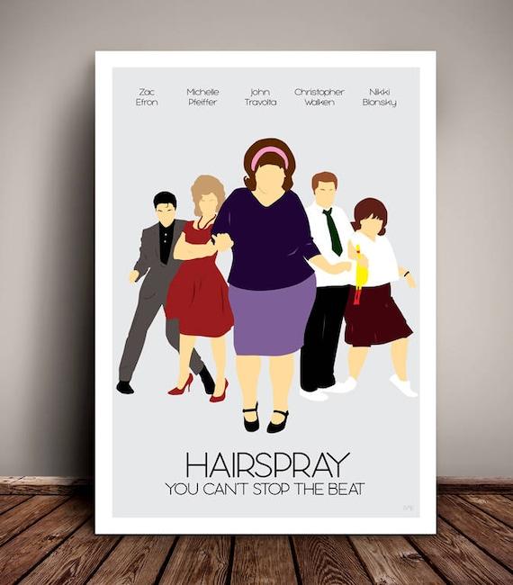 Hairspray // Minimalist Movie / Musical Poster //Art Print