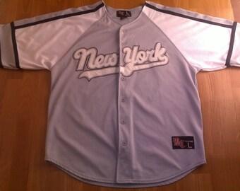 New York t-shirt vintage lowrider jersey vintage LA hip hop t-shirt 90s hip-hop clothing Chevrolet Impala Chicano, gangsta rap size L Large