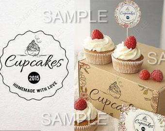 Cupcake logo design - Bakery logo,Custom Logo Design ,business logo and watermark,Professional Branding Package For Web,
