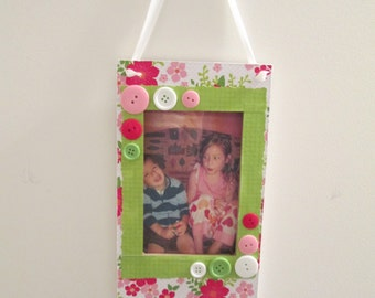 4x6 Floral Themed - Hand Decorating Hanging Picture Frame