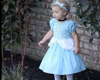 Cinderella inspired dress, princess dress, photo shoot, princess costume, dress up, birthday party dress, theme dress, girls dress, baby