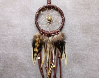 Dream Catcher Necklace / Dreamcatcher / Rooster Feathers / Boho / Festival / Bohemian / Gift - MADE TO ORDER