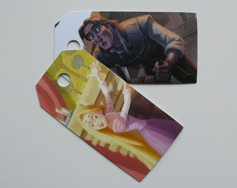 Tangled, 10 Gift tags, Tangled labels, Tangled gift tags, Disney, Disney labels, Disney gift tags, Paper ephemera, Journaling, #105