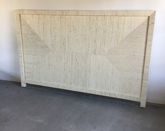 Custom Grasscloth Headboard