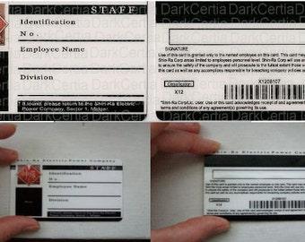 Final Fantasy VII 7 Shinra Turk ID Card cosplay