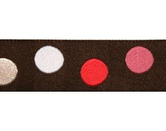 Brown and Pink Dot Jacquard (04-112-PD-047)