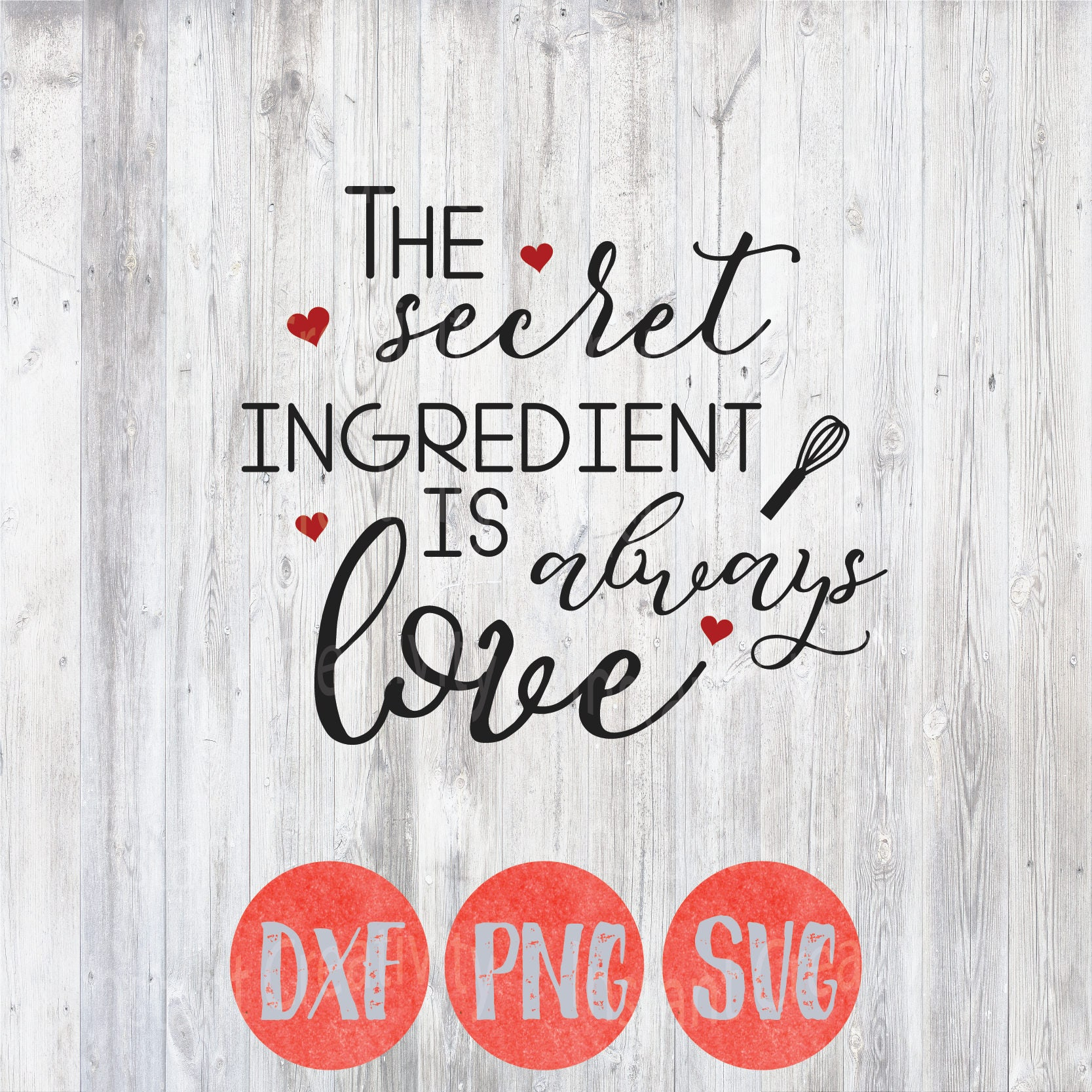 Kitchen Svg Kitchen Quotes Secret Ingredient Is Always Love