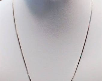 MM-106, Dainty Sterling Silver 20 inch Necklace