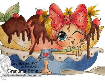 INSTANT DOWNLOAD Digital Digi Stamps Big Eye Big Head Dolls NEW Sweet Treats Besties Img644 My Besties By Sherri Baldy