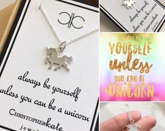 Unicorn Necklace, Encouragement, Graduation, Accomplishment, Unique