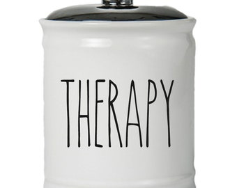 Therapy Word Jar With Lid - Money Coin Jar - Money Bank - Money Jar - Money Jar With Lid