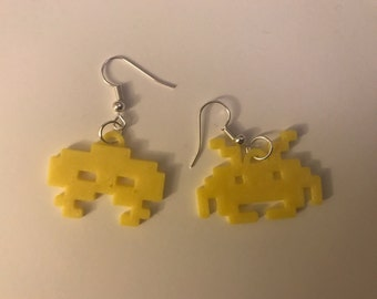 Space invader earrings