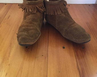 Leather Moccasins, Women's size 9