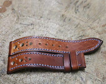 Leather Watch Strap, Leather Band, Handmade Watch Strap - 16mm, 18mm, 20mm, 22mm