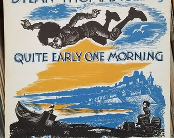 Dylan Thomas Reading Quite Early One Morning And Other Memories 1960 Spoken Word LP Caedmon Records TC 1132