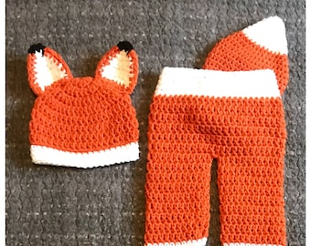 Fox Outfit Photo Prop, Newborn Fox Outfit, Baby Fox Outfit, Baby Fox Costume, Woodland Baby Shower, Woodland Baby, Crochet Fox Outfit, Fox