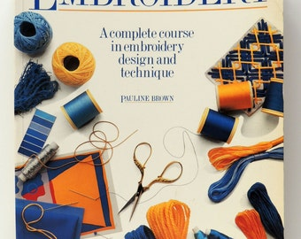 EMBROIDERY Book Vintage: Embroidered Design BORO Stitchery Arts. Charts DYI Projects Pillows Alter Cloth Wall Hanging Art Doll Boho Home