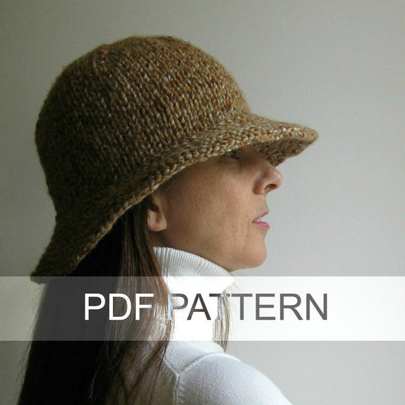 Branda Cloche Hat PDF Knitting Pattern Bucket Hat Instant