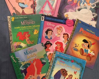 TEN hard cover Children's book covers for crafting, book binding, journal covers, altered art and more - Set 1