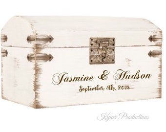 Rustic/Antique-Like Box Chest // Keepsake Box Chest // Baby // Adult // Couples // Wedding // Household Decor // Antique Wedding Card Box