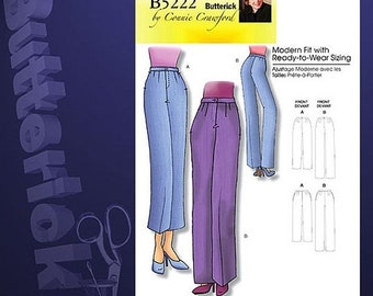 ON SALE OOP Misses Pants by Connie Crawford Sewing Pattern Butterick 5222 Size 3-14 Uncut