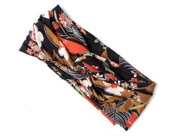 Turban Headband // Fashion Turban // Turband // Stretch Hairband // Hair Wrap // Bold Floral with Sparkle Accents