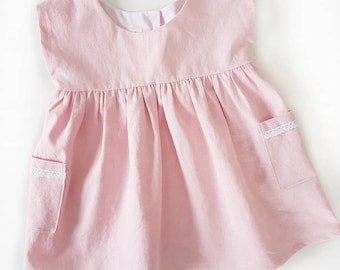 RTS | The Grace Dress | Pedal Pink | 18-24m | Spring/Summer Dress