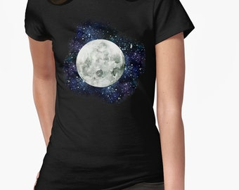 Moon and Stars T-shirt tee || Unisex Super Soft tee// Choose your color / t-shirt / unique / moon / galaxy / stars / witchy / night / pagan