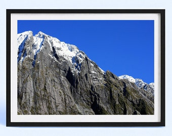 New Zealand Mountain Range | Nature Landscape Photography Print | Mountain Snow | Poster Print | Art Print | Wall Decor