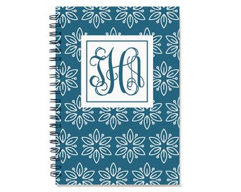 2018 planner, weekly planner, 2018-2019 personalized agenda calendar, 12 month schedule with monogram, 2018 planner book, SKU: pliwhtflm