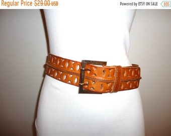 50% OFF Must See! Really Nice Cognac Leather Belt, Sz. M
