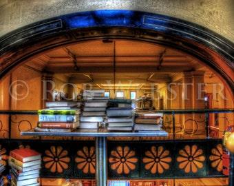Trans-Allegheny Bookstore  20, HDR  8x10 Fine Art Photo